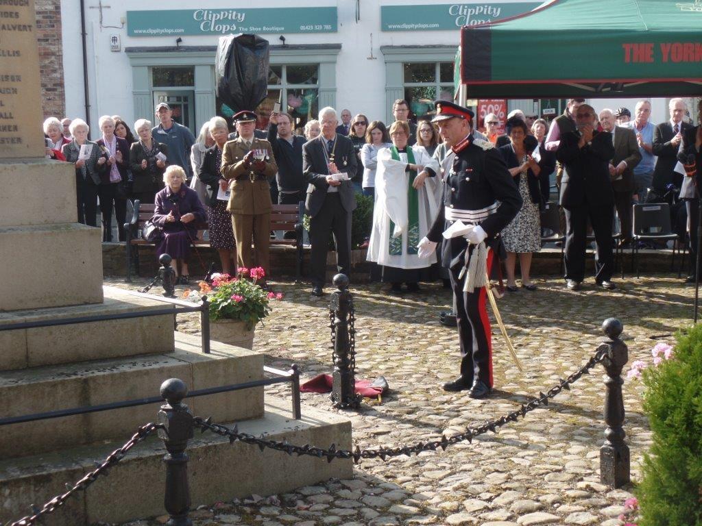 Commemoration To Honour Captain Archie White VC.Boroughbridge 076