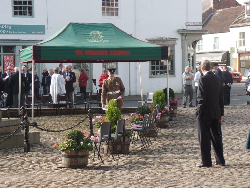 Commemoration To Honour Captain Archie White VC.Boroughbridge 054