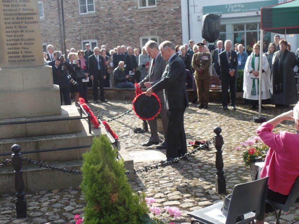 Commemoration To Honour Captain Archie White VC.Boroughbridge 082
