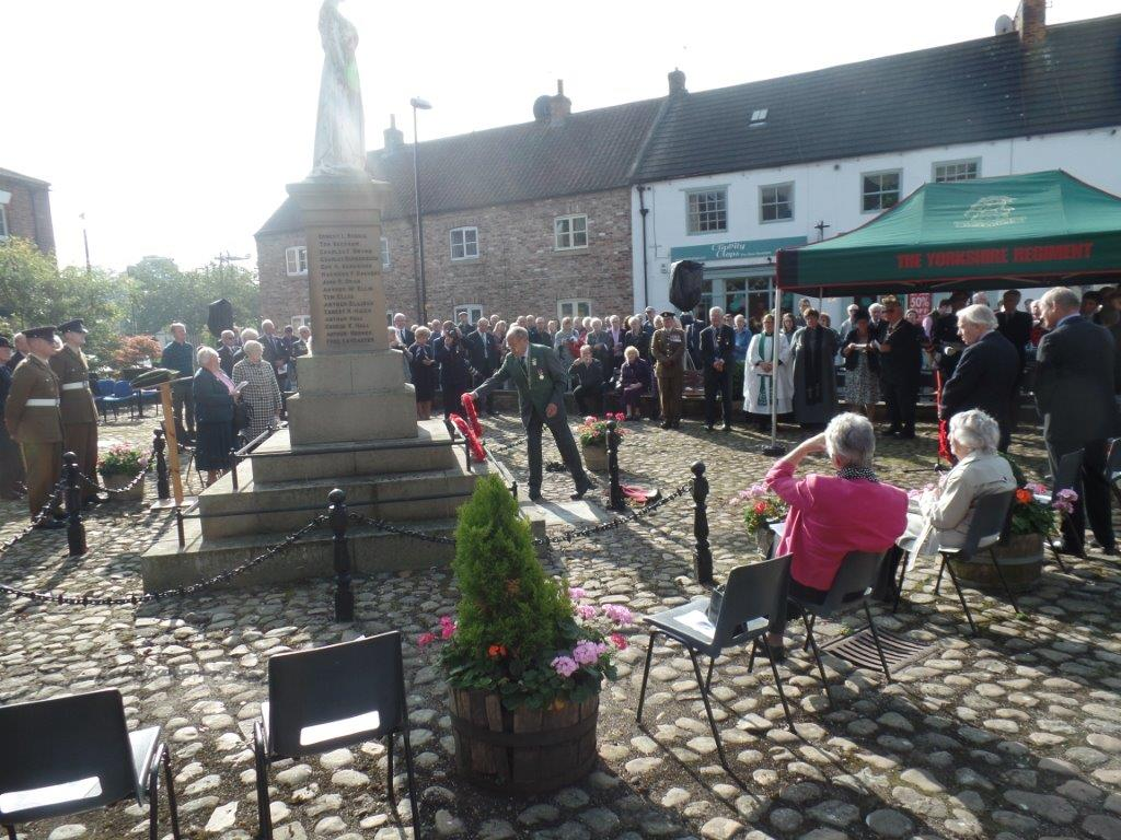 Commemoration To Honour Captain Archie White VC.Boroughbridge 079