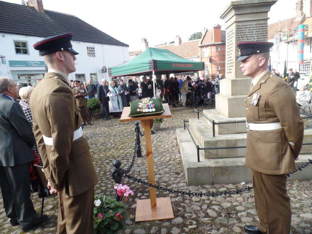 Commemoration To Honour Captain Archie White VC.Boroughbridge 073