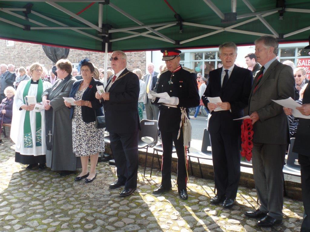 Commemoration To Honour Captain Archie White VC.Boroughbridge 068