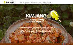 """The website of """"Kimjang: Making and Sharing Kimchi"""""""