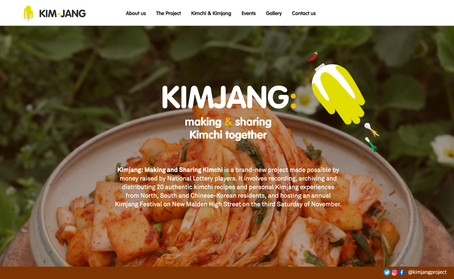 "The website of ""Kimjang: Making and Sharing Kimchi"""