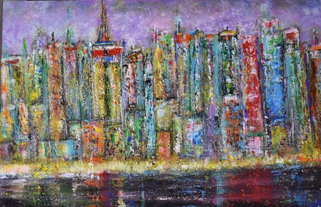 """Manhattan by night"" Linda Naili"