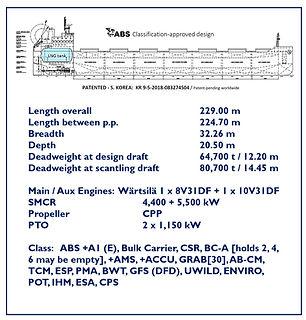 The Forward Ships LNG-fueled Kamsarmax