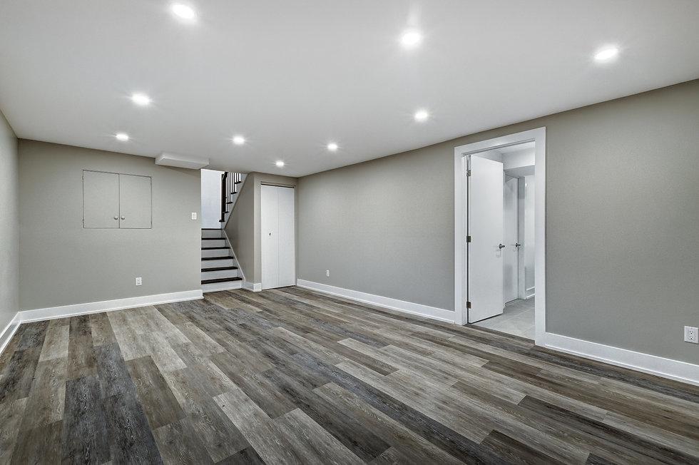 Luxury interior of renovated house in su