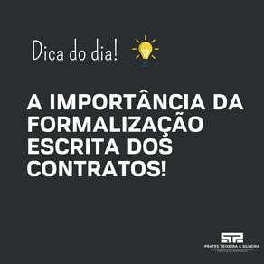A importância da formalização escrita dos contratos