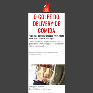 O Golpe do Delivery!