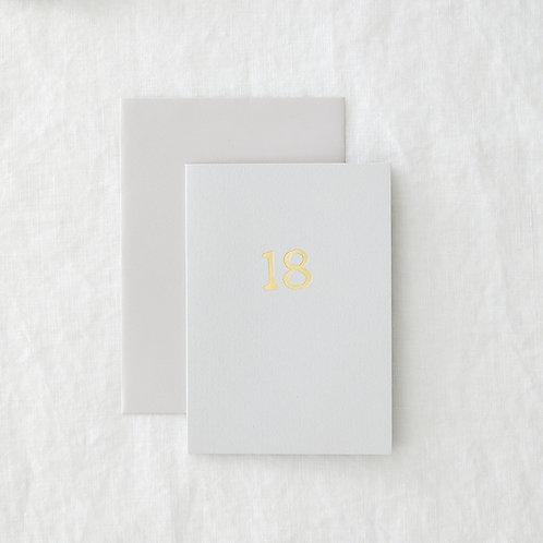 Grey foil 18 Greeting Card