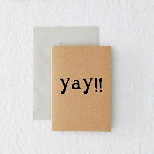 MINI -Yay Greeting Card