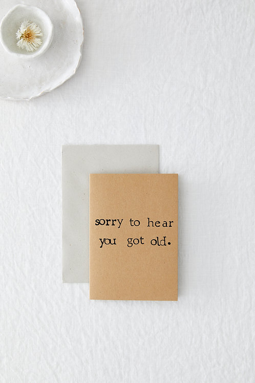 Sorry To Hear Greeting Card