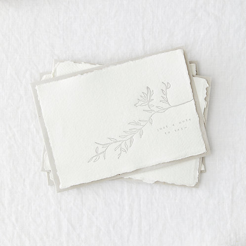 Set of 4 Just A Note