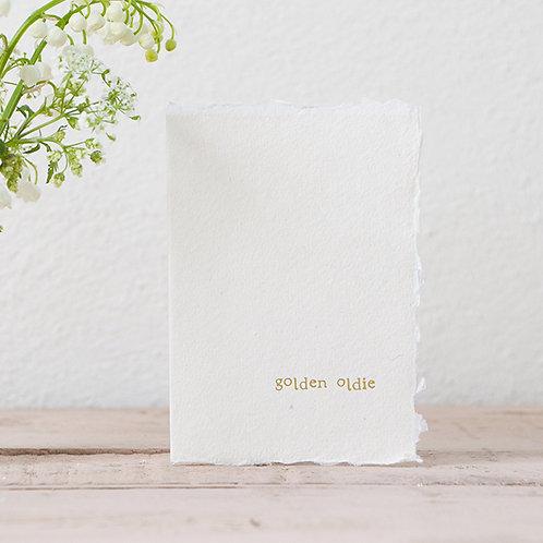 Golden Oldie - Mini Greeting Card