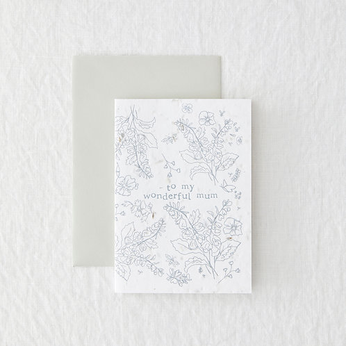 Wonderful mum- Seeded Card