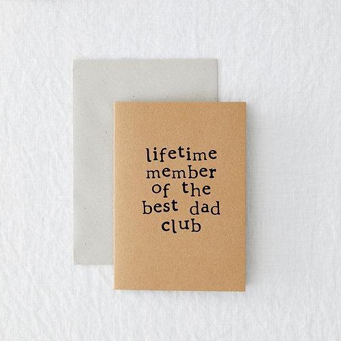 Best Dad Club Greeting Card