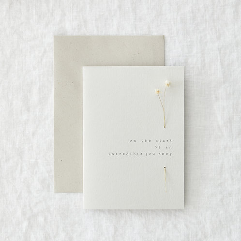 Incredible journey greeting card