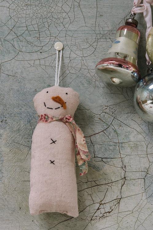 Pink Snowman Decoration