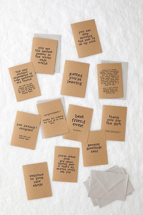 Bundle of 12 Greeting Cards