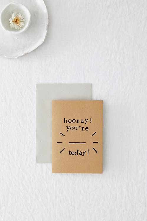 Hooray! Fill In Blank Greeting Card