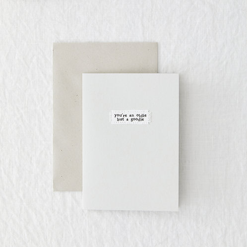Oldie Goodie Greeting Card