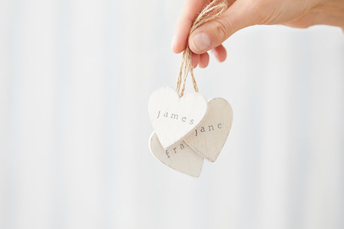 Personalised wooden heart