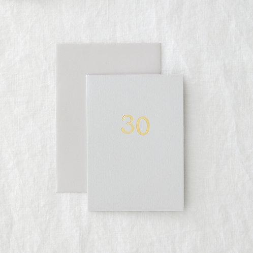 Grey foil 30 card