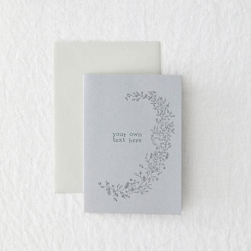 Grey floral bespoke