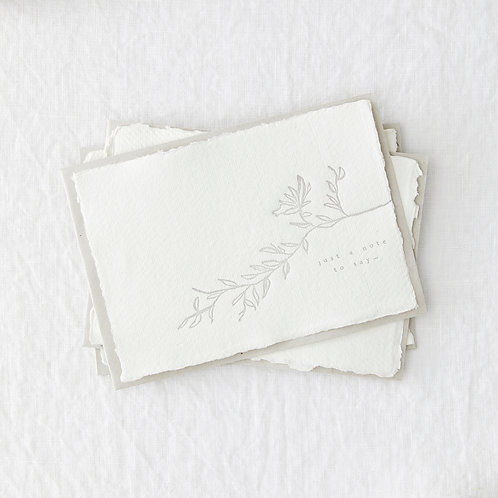 Set Of 4 Just A Note Postcards