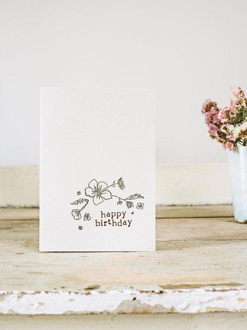 Birthday - Corner Foil