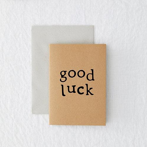 MINI - Good luck Greeting Card