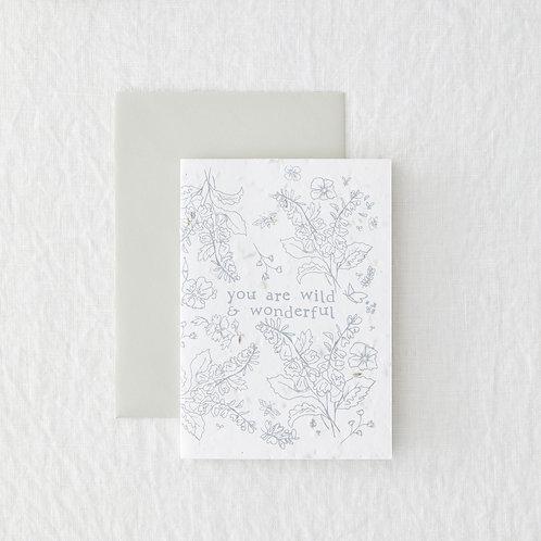 Wild & Wonderful - Seeded Card
