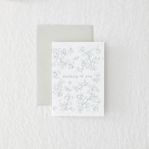Thinking of you - Seeded Greeting Card