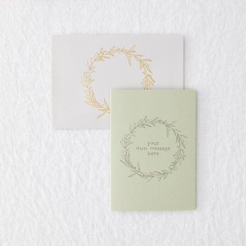 Green foliage personalised card