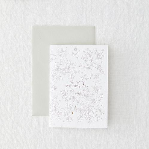 Wedding Day - Seeded Card