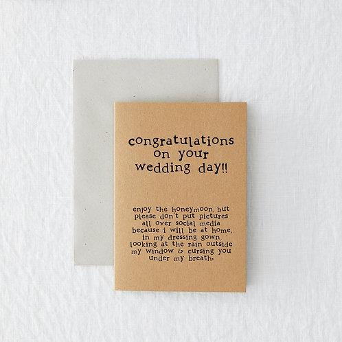 Honeymoon Greeting Card