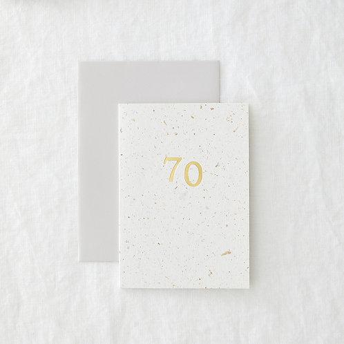 Foiled 70 Card