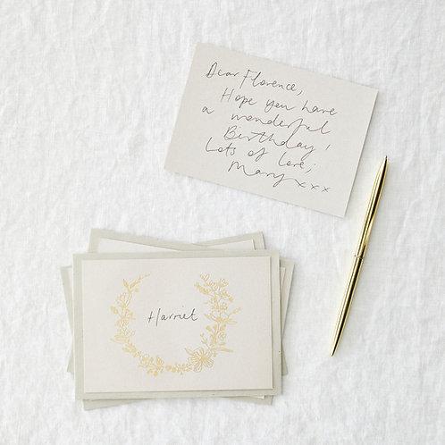 Pack of 4 foil floral postcards