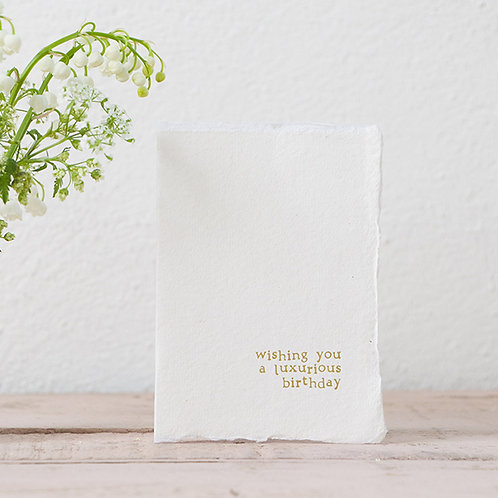 Luxurious Birthday - Mini Greeting Card