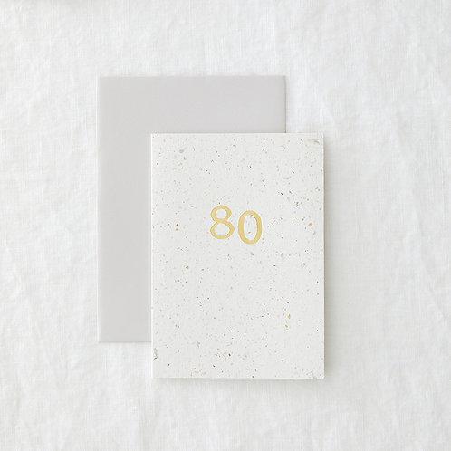 Foiled 80 Card