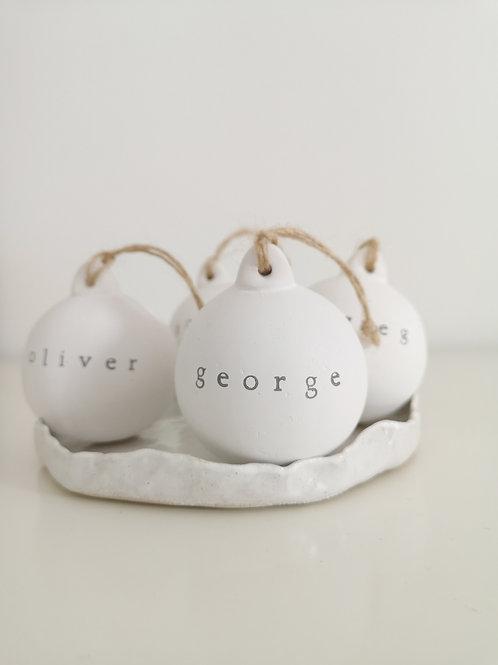 Personalised Ceramic Baubles