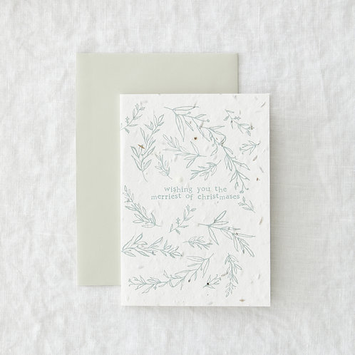 Merriest Christmas - plantable card
