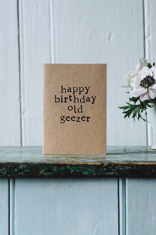 Birthday - Old Geezer