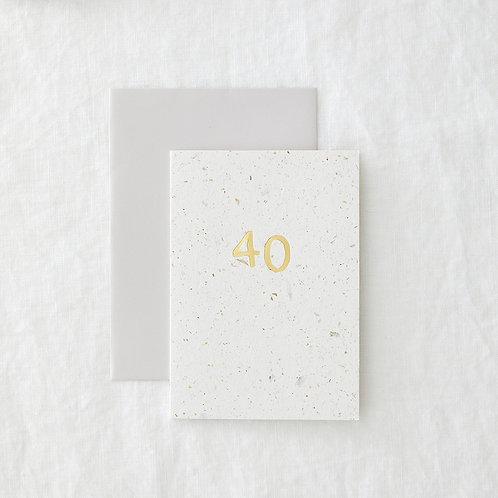 Foiled 40 Card