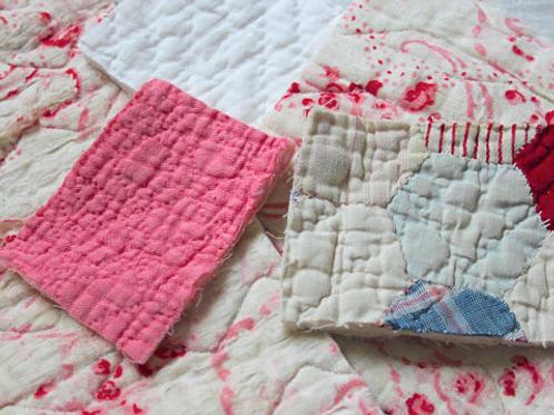 Vintage Quilt Pieces / Bundle