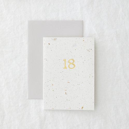 Foiled 18 Card