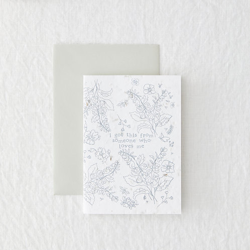 Someone Who Loves Me - Seeded Card