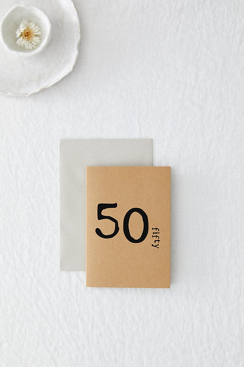 50 Greeting Card
