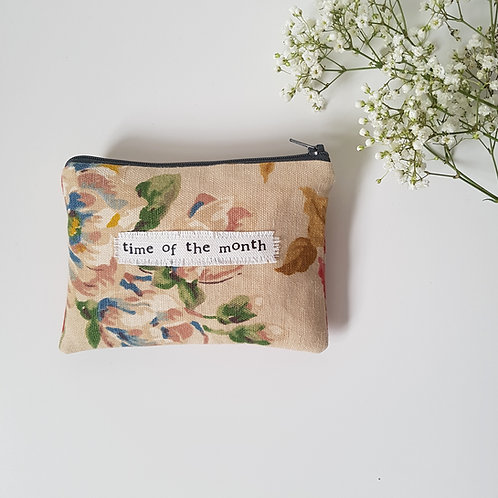 Time Of The Month - Floral Feminine Product Storage