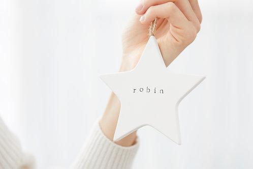 Personalised Ceramic Star